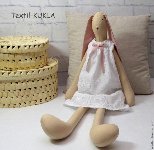 Игрушки животные, ручной работы. Ярмарка Мастеров - ручная работа. Купить Зайка (70см) - текстильная игрушка. Handmade. Куклы и игрушки