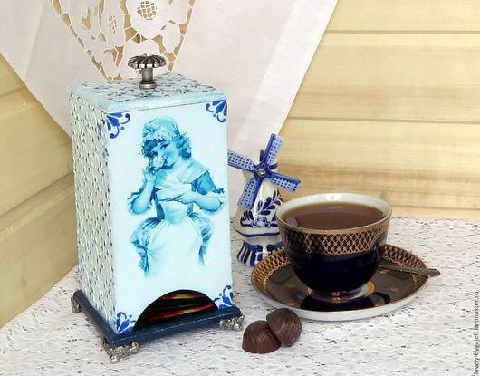 """Кухня ручной работы. Ярмарка Мастеров - ручная работа. Купить Чайный домик """"Голландка"""". Handmade. Голубой, нидерланды, чаепитие"""