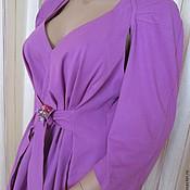 Одежда handmade. Livemaster - original item Dress purple cotton. Handmade.