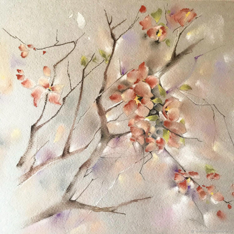 Вишнёвые цветы, Картины, Белгород,  Фото №1