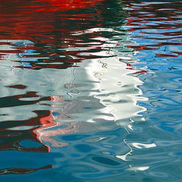 Картины и панно ручной работы. Ярмарка Мастеров - ручная работа Море абстрактная фото картина для интерьера, отражение корабля. Handmade.