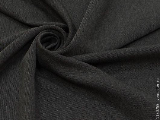 Шитье ручной работы. Ярмарка Мастеров - ручная работа. Купить ткань костюмная вискоза стрейч т.серый меланж  27.14. Handmade.
