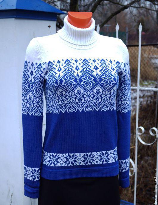 """Кофты и свитера ручной работы. Ярмарка Мастеров - ручная работа. Купить Свитер """"Зима"""". Handmade. Синий, свитер женский"""