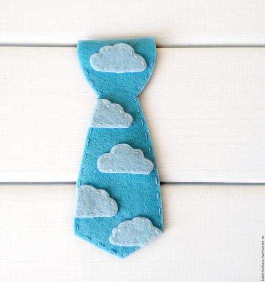 """Детские аксессуары ручной работы. Ярмарка Мастеров - ручная работа. Купить Галстук для мальчика """"Облака"""". Handmade. Голубой, галстук, для мальчика"""