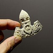 Талисманы ручной работы. Ярмарка Мастеров - ручная работа Кулон рунический- секира Викинга (рог лося ) т7л. Handmade.