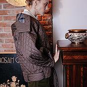 Одежда ручной работы. Ярмарка Мастеров - ручная работа удлинённая  куртка -  бомбер - трансформер. Handmade.