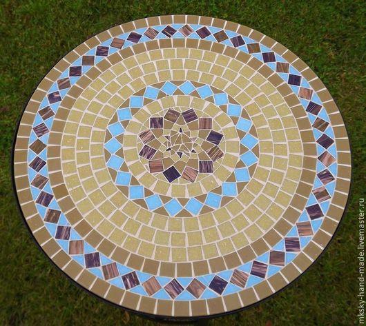 Мозаичный кофейный столик `Бирюза на песке` -  это вечное сочетание гармонии неба и солнца, моря и песка.... Мы дарим вам тепло наших рук. MKsky