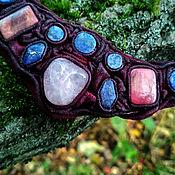 Украшения handmade. Livemaster - original item Jewelry sets: in pink-Bordeaux-blue tones. Handmade.