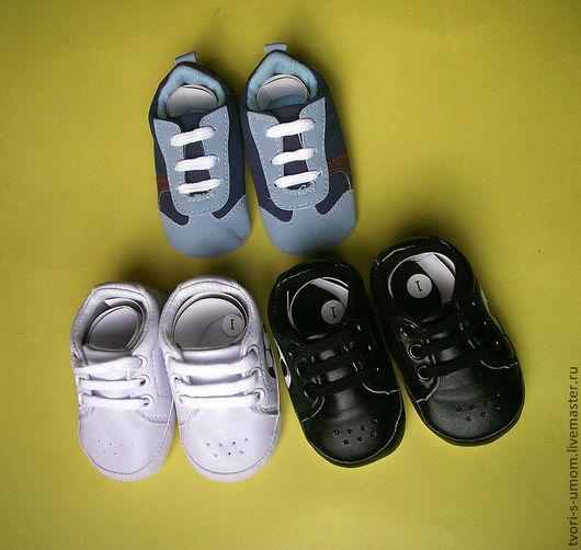 Куклы и игрушки ручной работы. Ярмарка Мастеров - ручная работа. Купить Обувь для куклы, кеды, пинетки  для малышей. Handmade. Обувь