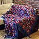 Текстиль, ковры ручной работы. Ярмарка Мастеров - ручная работа. Купить Плед. Handmade. Тёмно-синий, с кистями