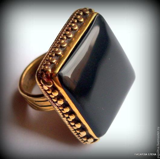 """Кольца ручной работы. Ярмарка Мастеров - ручная работа. Купить Кольцо """"Черный квадрат"""". Handmade. Черный, черный квадрат"""