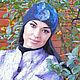 """Шапки ручной работы. Ярмарка Мастеров - ручная работа. Купить Шапка валяная """"Черная радуга"""". Handmade. Валяние, шапка из шерсти"""