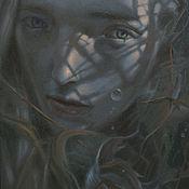 Картины ручной работы. Ярмарка Мастеров - ручная работа Картина маслом. Сирена (Siren). Handmade.