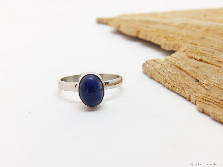 15.75 p ring with sodalite Sky, Phalanx ring, Gatchina,  Фото №1