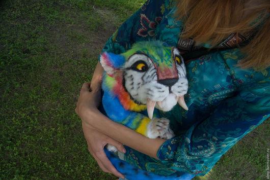 Игрушки животные, ручной работы. Ярмарка Мастеров - ручная работа. Купить Cat of The Croods (Macawnivore). Handmade. Комбинированный