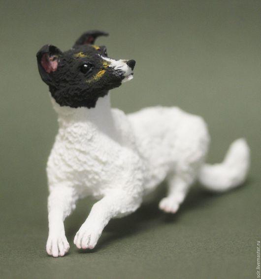 """Статуэтки ручной работы. Ярмарка Мастеров - ручная работа. Купить фигурка """"джек рассел терьер"""" (статуэтка собаки породы терьер). Handmade."""