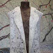 """Одежда ручной работы. Ярмарка Мастеров - ручная работа Удлиненный жилет """"Флёрдоранж"""". Handmade."""