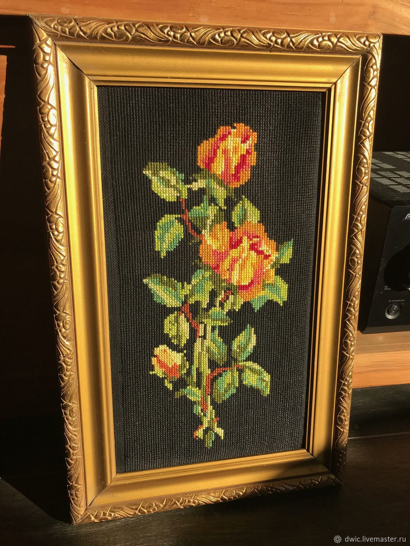Embroidery 'Magic', handmade, Holland, Vintage interior, Arnhem,  Фото №1