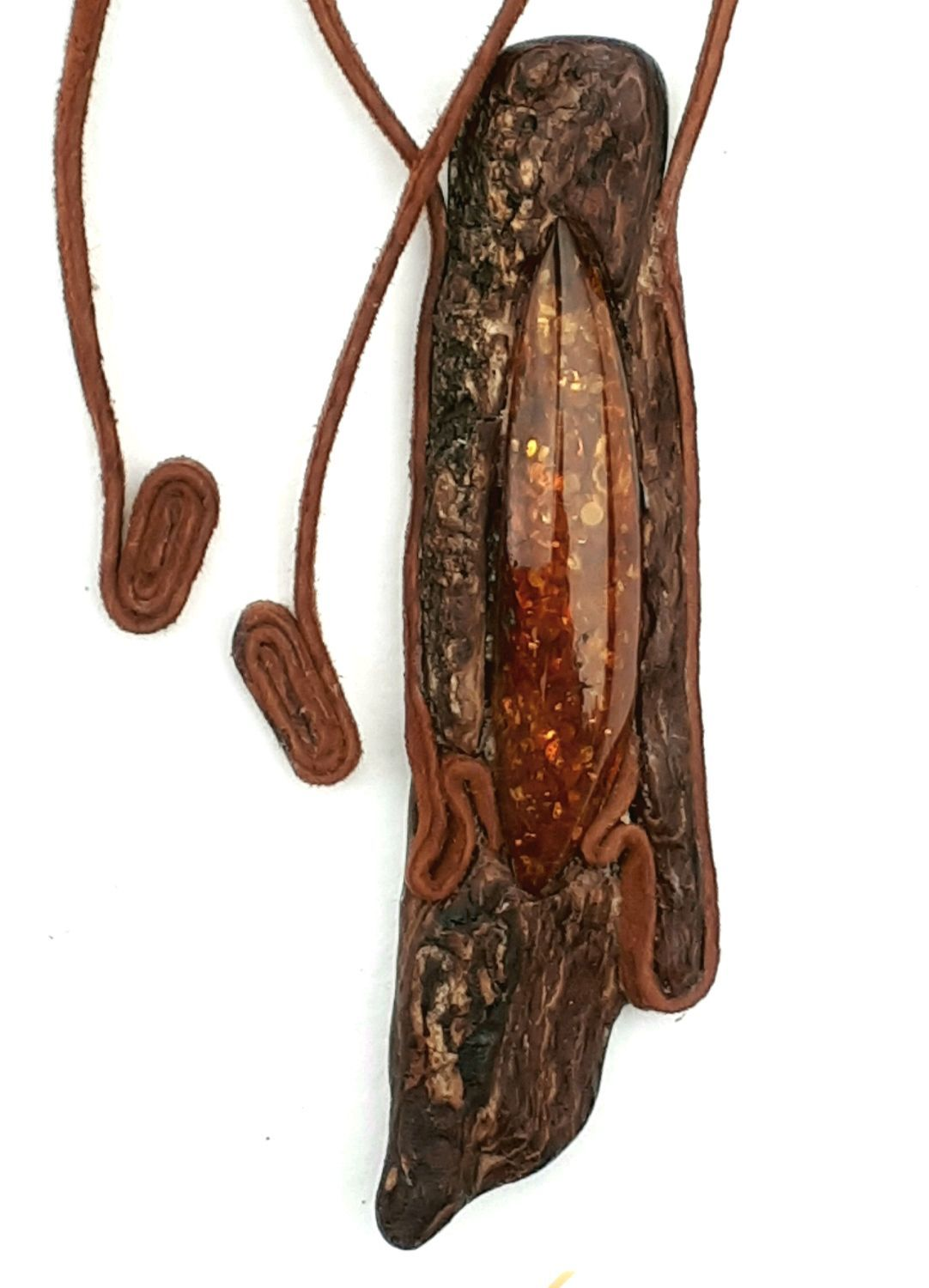 Wood pendants with amber Intuition, Pendants, Moscow,  Фото №1
