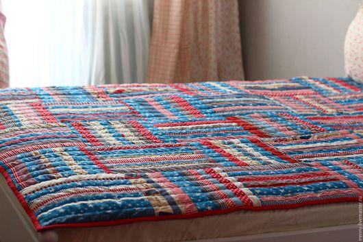 Текстиль, ковры ручной работы. Ярмарка Мастеров - ручная работа. Купить Одеяло со звездами.. Handmade. Комбинированный, лоскутное одеяло