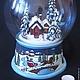 """Новый год 2017 ручной работы. Ярмарка Мастеров - ручная работа. Купить Большой снежный шар """"Мой дом"""". Handmade. стекло"""