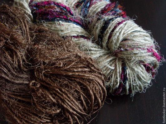 Валяние ручной работы. Ярмарка Мастеров - ручная работа. Купить Пряжа сари (sari silk) для валяния, Мокко и Микс, цена за 10 гр. Handmade.