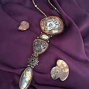 Колье ручной работы. Ярмарка Мастеров - ручная работа Кулон с целым набором магических камней. Handmade.