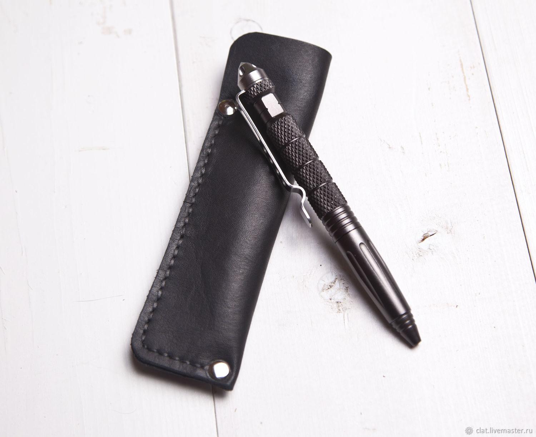 Тактическая ручка с чехлом из натуральной кожи, Ручки, Санкт-Петербург,  Фото №1