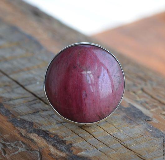 Кольца ручной работы. Ярмарка Мастеров - ручная работа. Купить Кольцо с родонитом, серебро. Handmade. Драгоценные камни