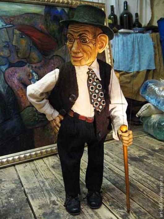 Коллекционные куклы ручной работы. Ярмарка Мастеров - ручная работа. Купить Марионетка старика. Handmade. Марионетка, марионетка старика