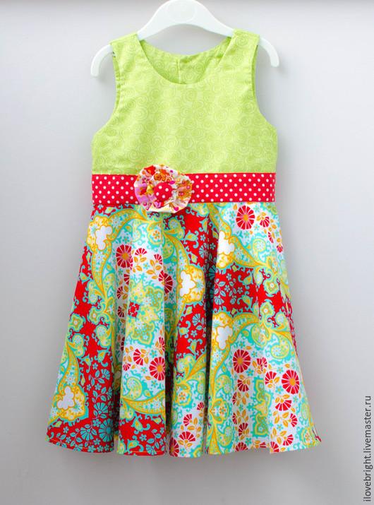 Одежда для девочек, ручной работы. Ярмарка Мастеров - ручная работа. Купить Нарядное платье для девочки. Handmade. Салатовый, платье