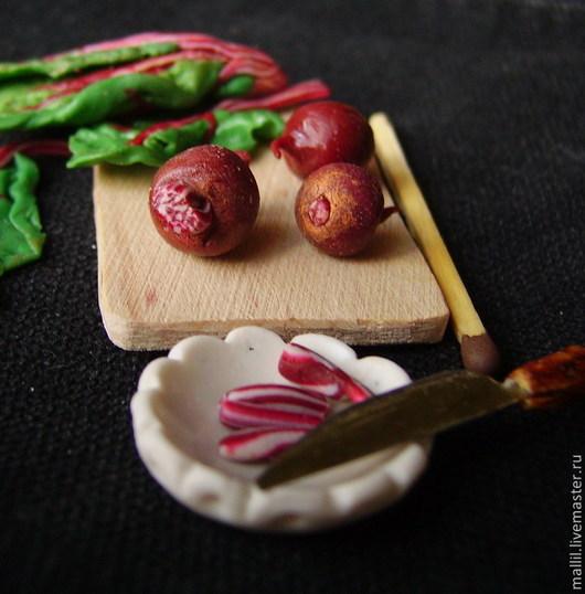 Еда ручной работы. Ярмарка Мастеров - ручная работа. Купить Свекла в миниатюре. Handmade. Бордовый, миниатюра 1 12, овощи