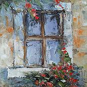 Картины и панно handmade. Livemaster - original item Oil painting canvas Window. Handmade.