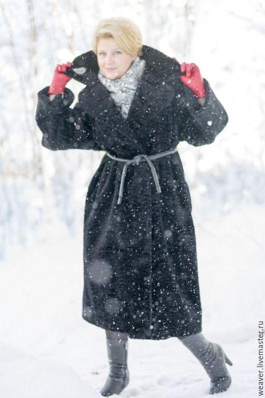 """Верхняя одежда ручной работы. Ярмарка Мастеров - ручная работа. Купить Пальто меховое """"Серебряный век"""". Handmade. Черный, утонченный"""