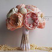 """Свадебный салон ручной работы. Ярмарка Мастеров - ручная работа Свадебный Брошь-букет невесты """"Пионовый Шик"""" цветы ручной работы. Handmade."""