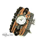 """Украшения ручной работы. Ярмарка Мастеров - ручная работа Стильные часы наручные  """"Пума"""" часы-браслет, часы на широком браслете. Handmade."""
