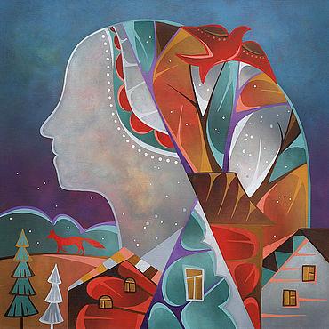 Картины и панно ручной работы. Ярмарка Мастеров - ручная работа Картина маслом. Зима. Handmade.
