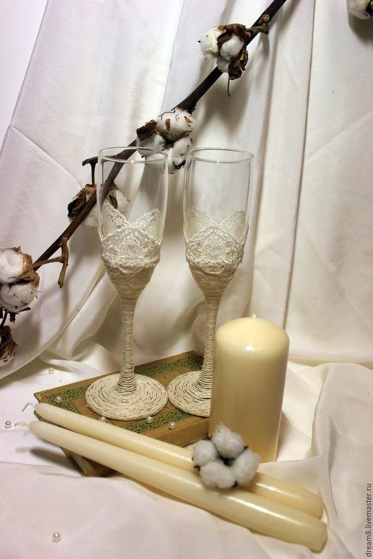 """Свадебные аксессуары ручной работы. Ярмарка Мастеров - ручная работа. Купить """"Нежность """". Handmade. Слоновая кость, стекло"""