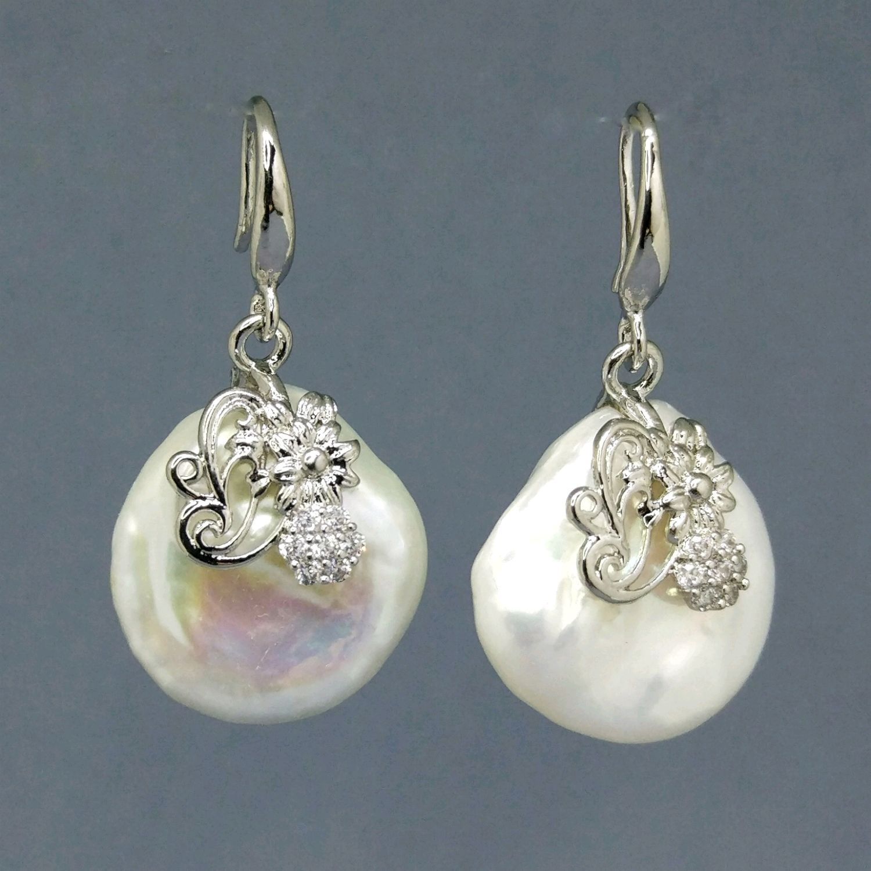 a9dd9e7c15ad Серьги жемчуг натуральный белый серебро 925 – купить в интернет-магазине на  ...