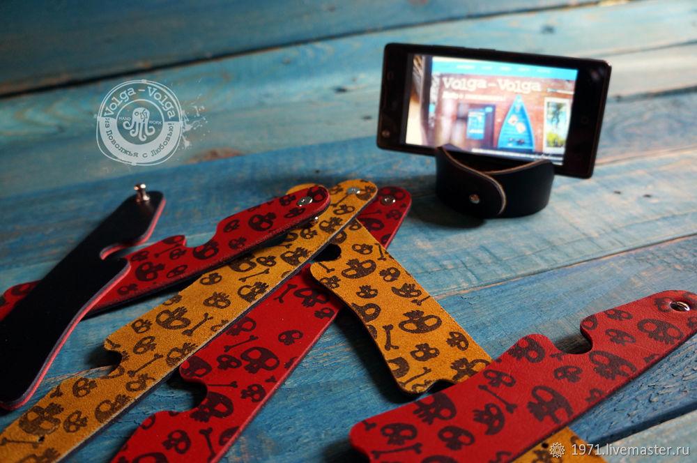 Кожаный браслет подставка для мобильного телефона, Браслеты, Тольятти, Фото №1