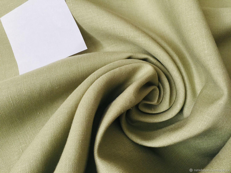 Sewing handmade. Livemaster - handmade. Buy Linen FLAP 100% suit ' Lemongrass'.Green, linen clothes