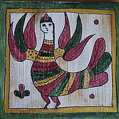 Картины и панно handmade. Livemaster - original item The picture on the Board in the naive style of