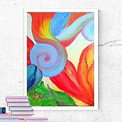 Элементы интерьера ручной работы. Ярмарка Мастеров - ручная работа Картина Цветок  Макро абстракция. Handmade.