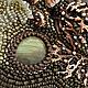 """Колье, бусы ручной работы. Сюжетное колье """"Уссурийский тигр"""" с симбирцитовой жеодой и лабрадорами. Алла Масленникова (beadlady). Ярмарка Мастеров."""