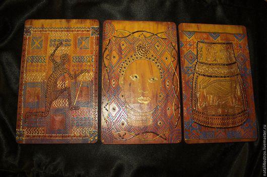 Этно ручной работы. Ярмарка Мастеров - ручная работа. Купить Набор из трех панно Африканские мотивы. Handmade. Рыжий