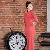 Одежда ручной работы. Ярмарка Мастеров - ручная работа Длинное вязаное платье макси, длинное платье в пол. Handmade.