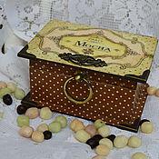 Для дома и интерьера ручной работы. Ярмарка Мастеров - ручная работа Шкатулка Шоколад. Handmade.