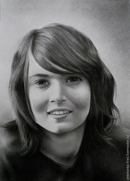 """Люди, ручной работы. Ярмарка Мастеров - ручная работа. Купить Портрет по фото """"Мария"""". Handmade. Серый, портрет девушки, рисунок"""