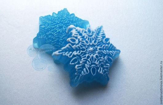 Мыло ручной работы. Ярмарка Мастеров - ручная работа. Купить Снежинка №3. Handmade. Снег, зима, новогодний сувенир