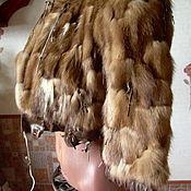 """Одежда ручной работы. Ярмарка Мастеров - ручная работа Жакетик из меха и кожи """"Меховой  винтаж"""". Handmade."""